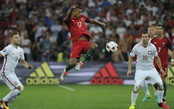 A view of the action between Poland and Portugal during their UEFA Euro 2016 Quarter-final match